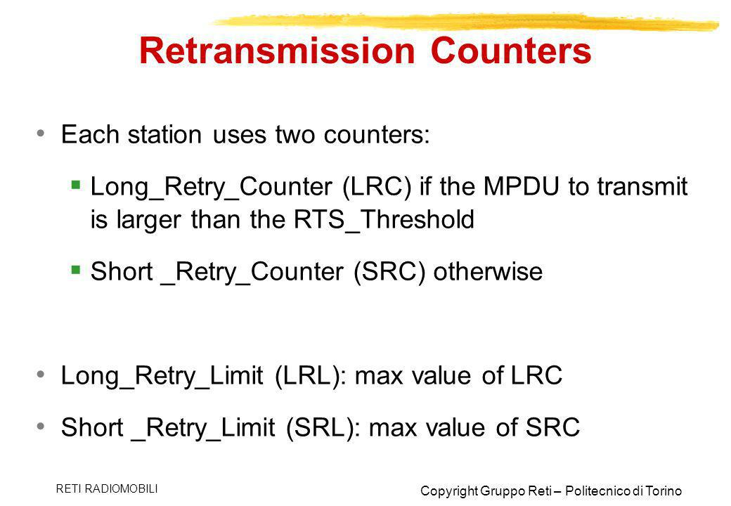 Retransmission Counters