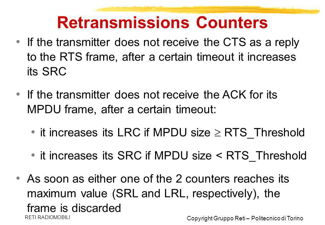 Retransmissions Counters