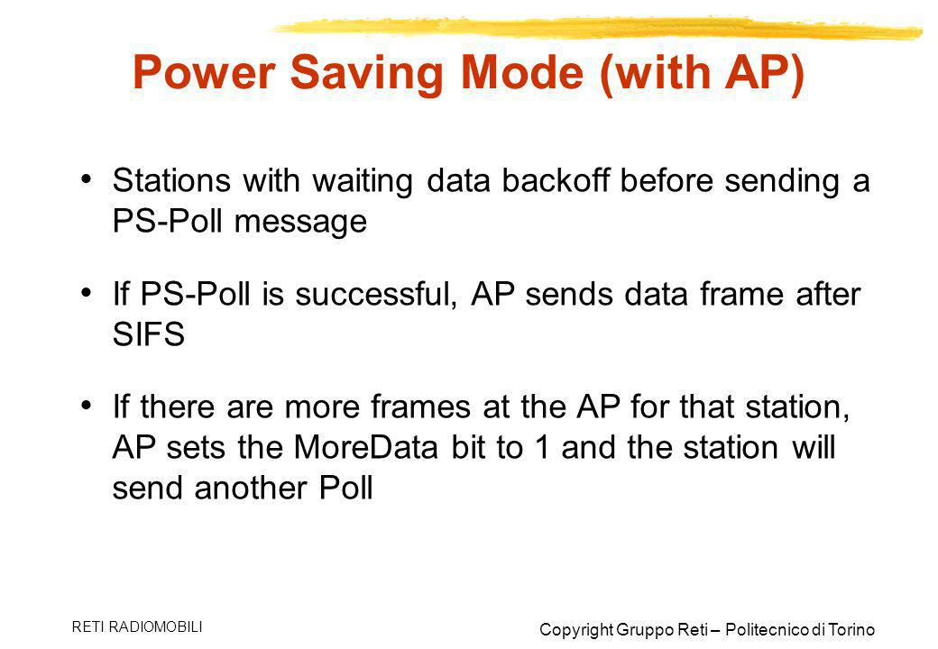 Power Saving Mode (with AP)