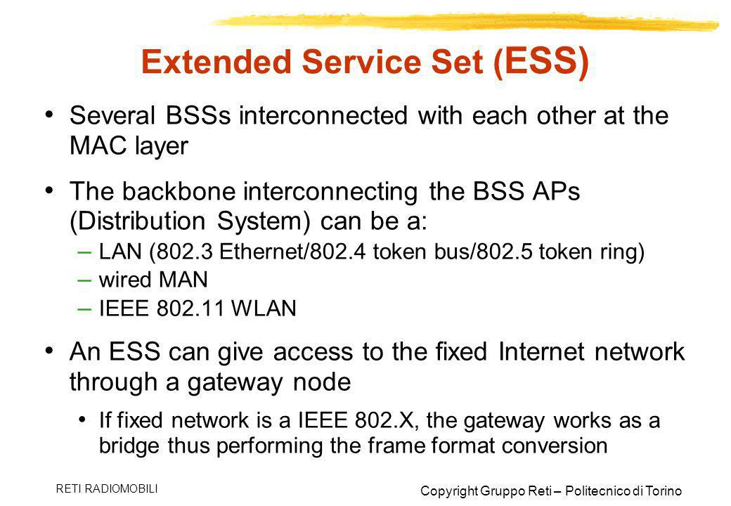 Extended Service Set (ESS)