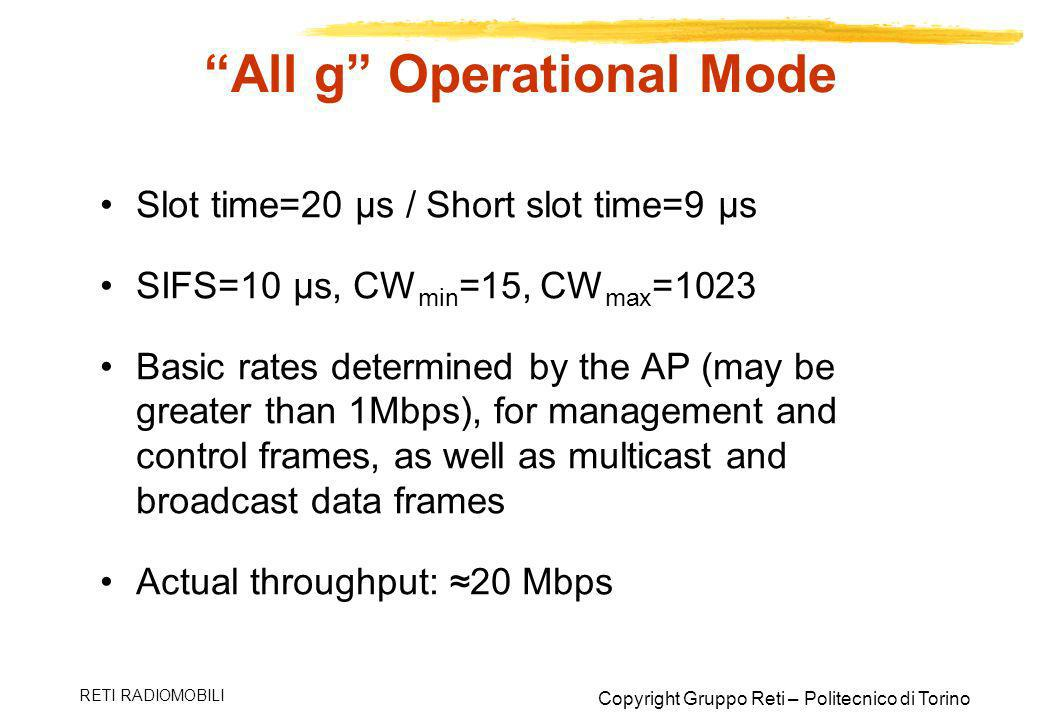 All g Operational Mode