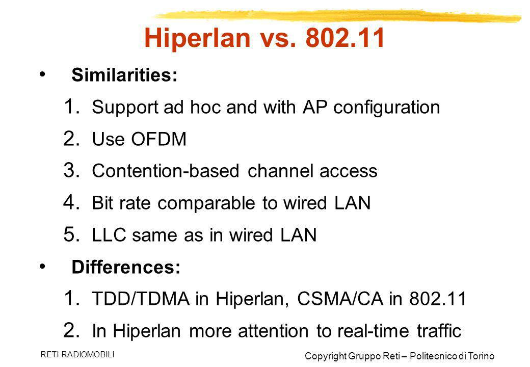 Hiperlan vs Similarities:
