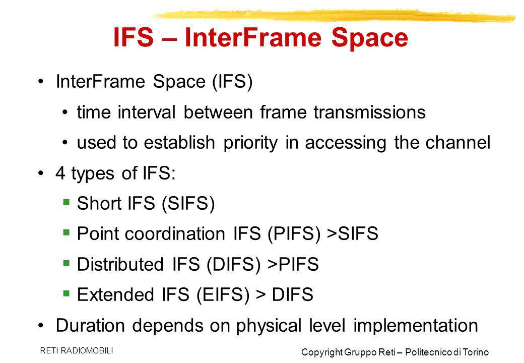 IFS – InterFrame Space InterFrame Space (IFS)