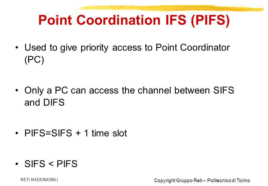 Point Coordination IFS (PIFS)