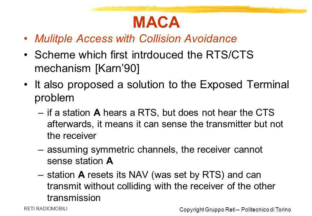MACA Mulitple Access with Collision Avoidance
