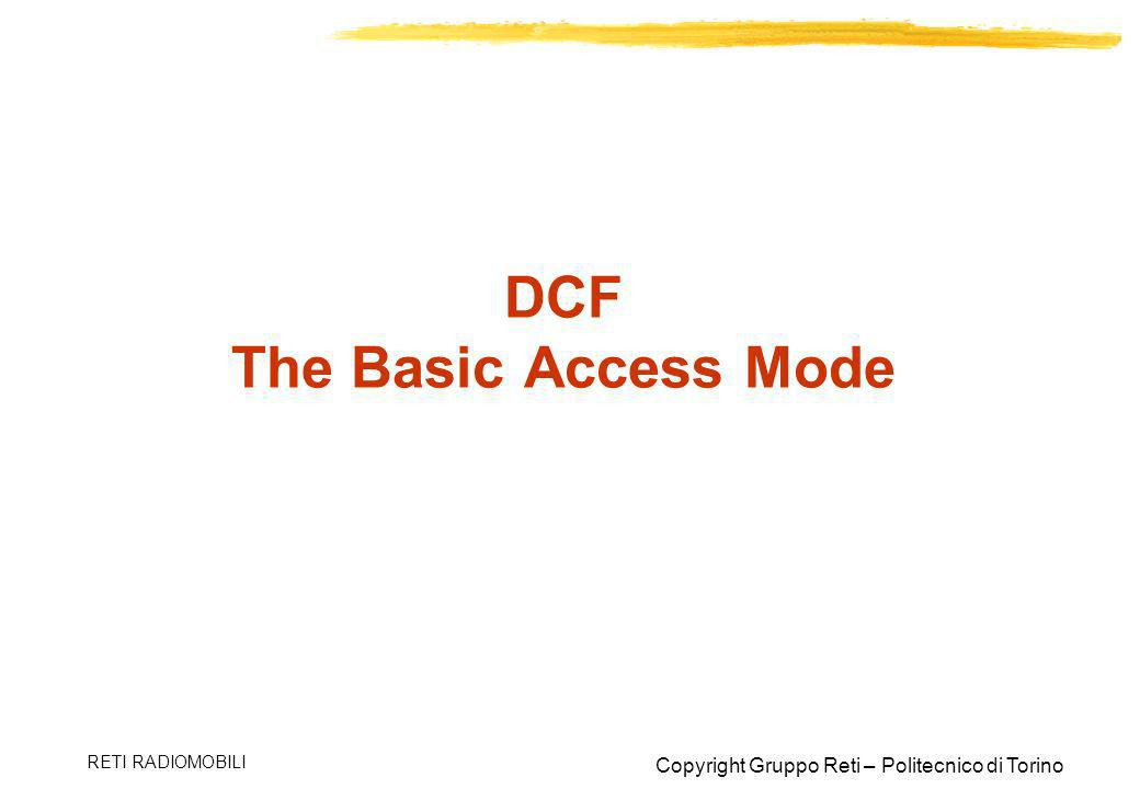 DCF The Basic Access Mode
