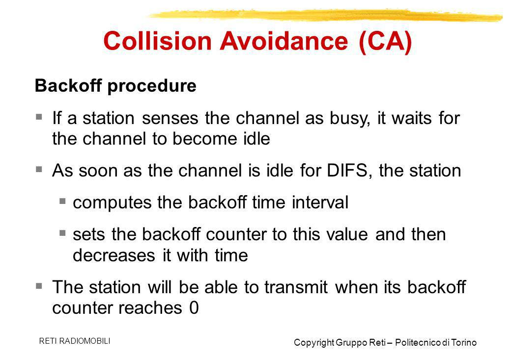 Collision Avoidance (CA)