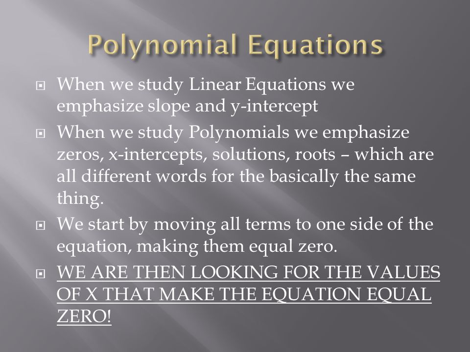 how to find polynomials with same roots