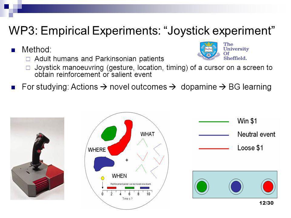 WP3: Empirical Experiments: Joystick experiment