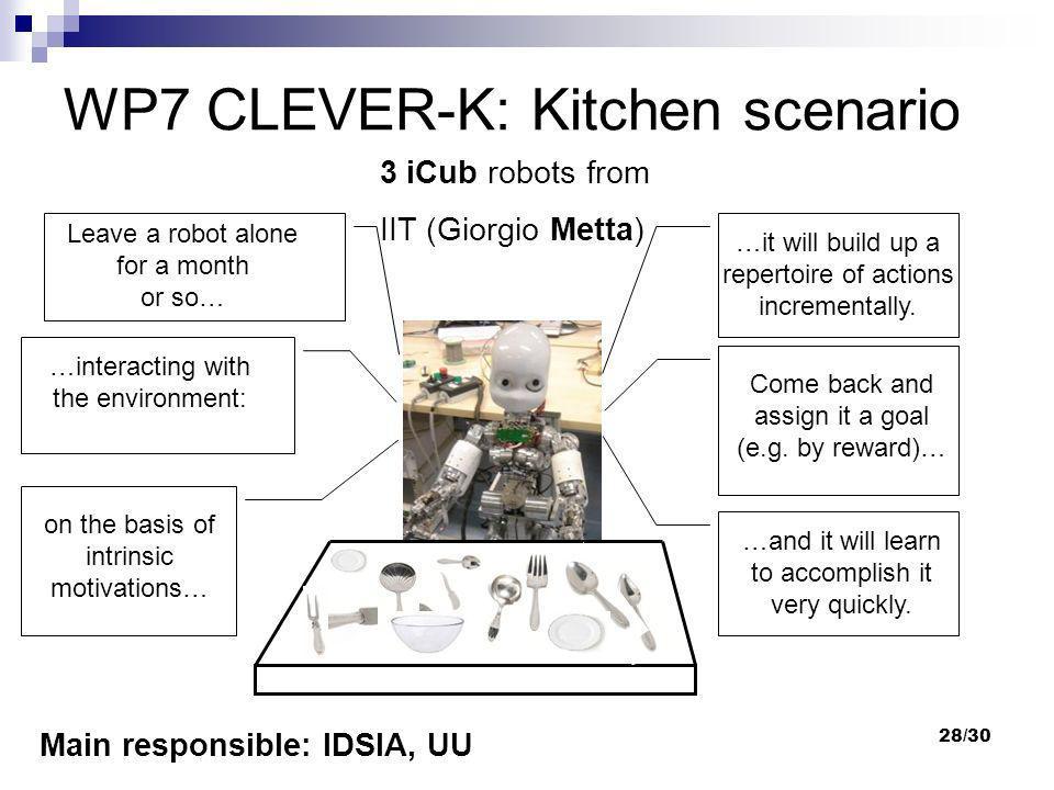 WP7 CLEVER-K: Kitchen scenario