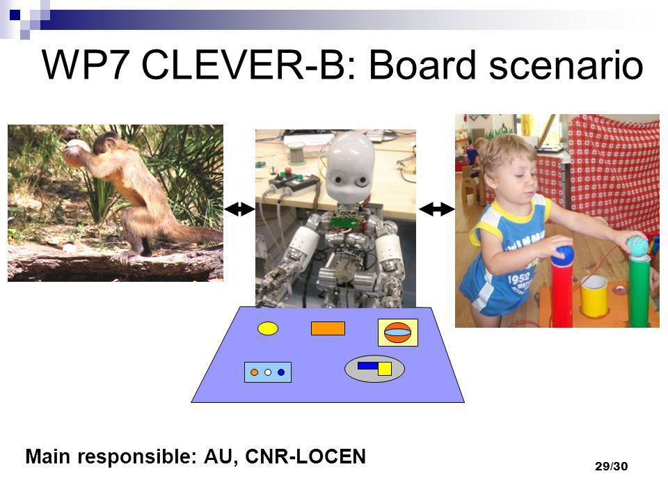 WP7 CLEVER-B: Board scenario