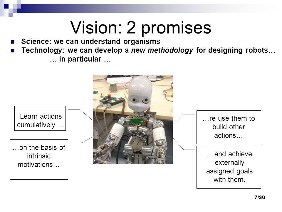 Vision: 2 promises Science: we can understand organisms