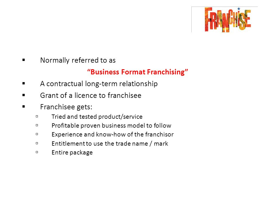 Franchising. - Ppt Video Online Download