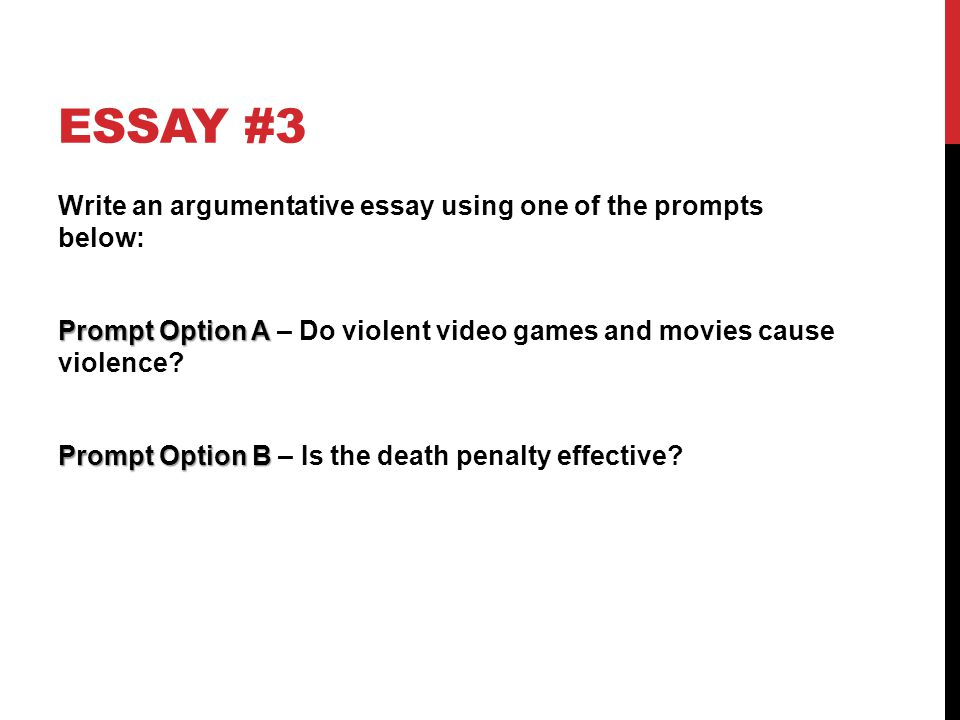 aims practice prompts ppt  6 essay 3 write an argumentative