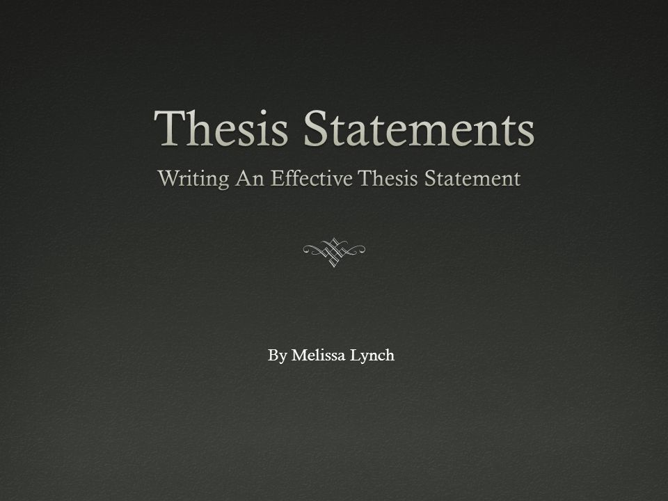 Thesis statement made easy