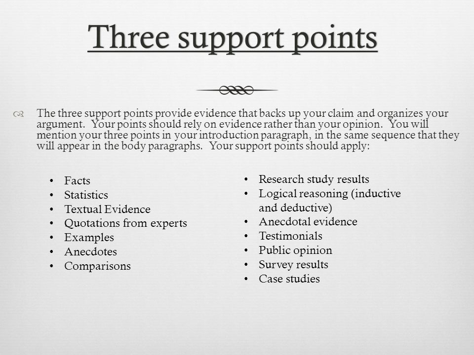 three point thesis