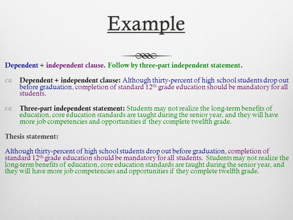 complete thesis 3 creating a thesis statement & outline iwhat is a thesis statement a thesis statement is usually a sentence that states your argument to the reader.