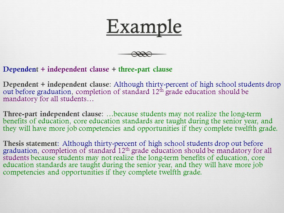 dependent clause essay Free essay: 86 briefly explain what the opening of a document should accomplish answer: the opening of a shorter document should be relevant, interesting.