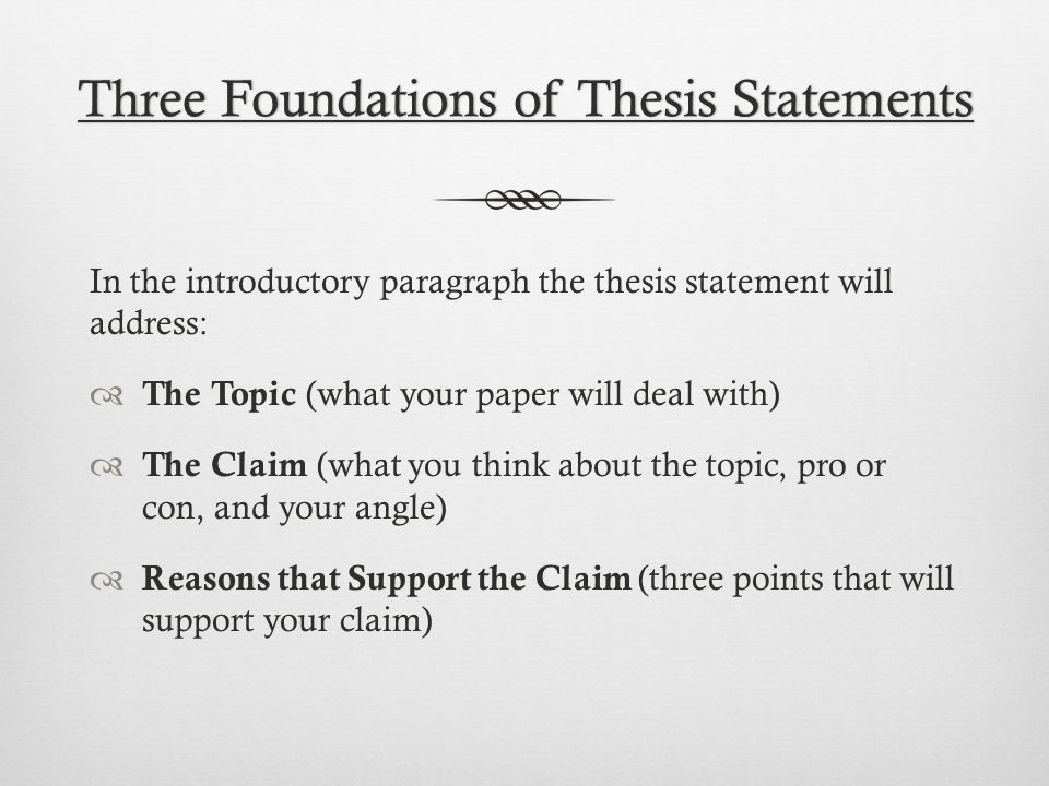 articles with thesis statements to find