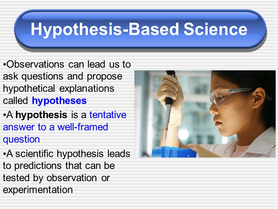 hypothesis based science Name: _____ hour: ____ for the following questions, you will have to read section 22 pages 30 to 35 1 diagram the steps of the idealized scientific.