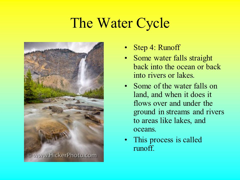 The Water Cycle Step 4: Runoff