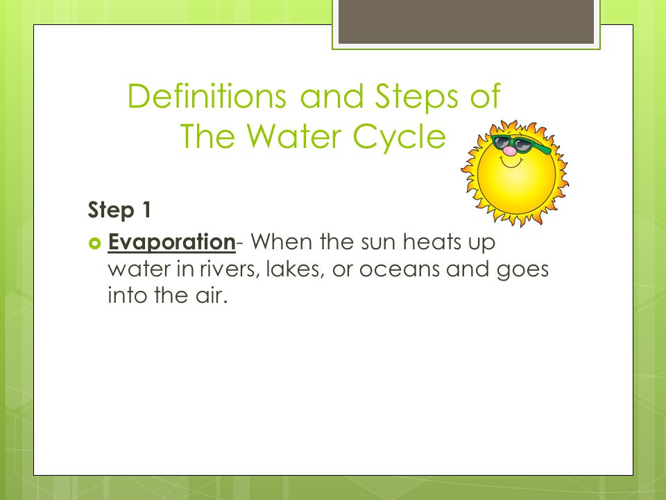 Definitions And Steps Of The Water Cycle