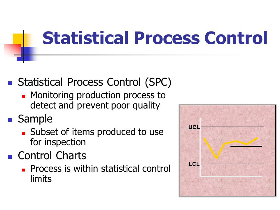 statistical process control Knowing whether a process is in control and stable is paramount to producing a product or service that meets customer needs in this hour-long minitab training course, eduardo santiago covers many useful topics related to statistical process control.