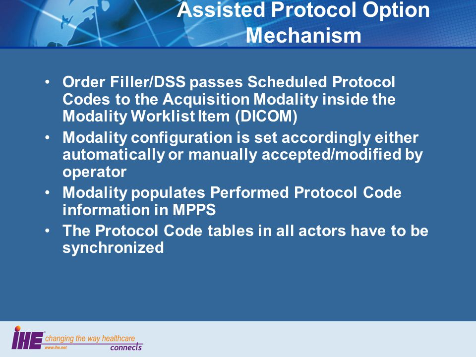 Assisted Protocol Option Mechanism