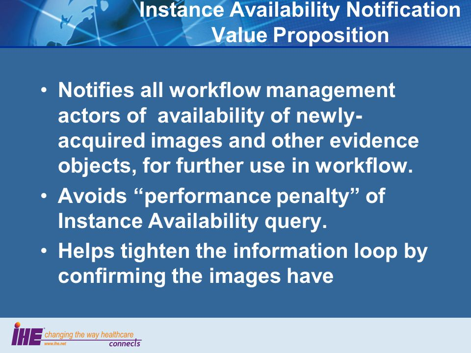 Instance Availability Notification Value Proposition