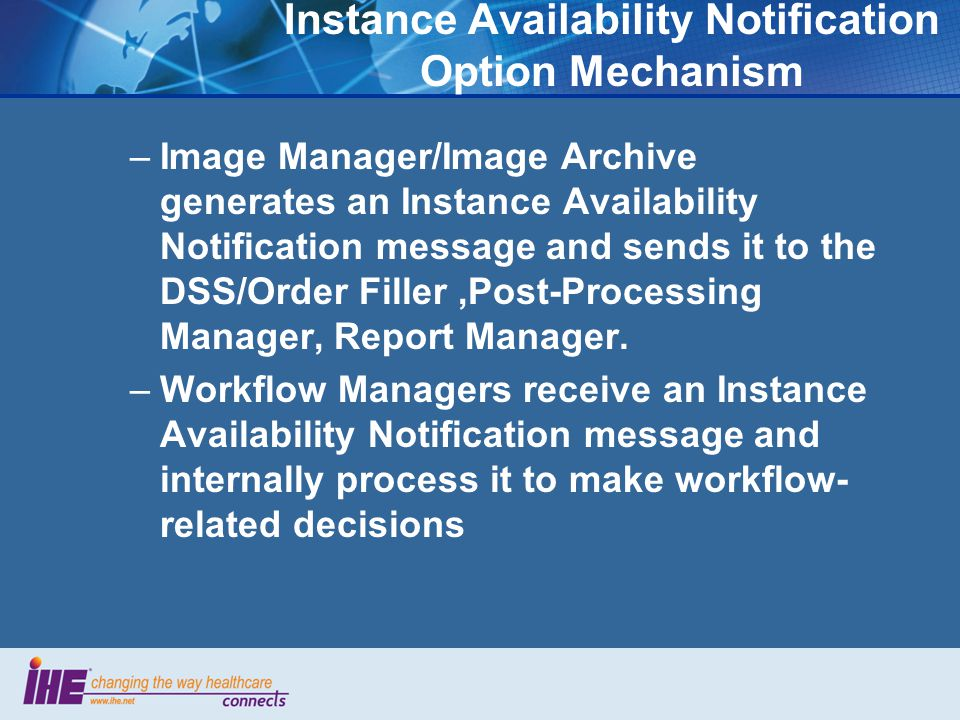 Instance Availability Notification Option Mechanism