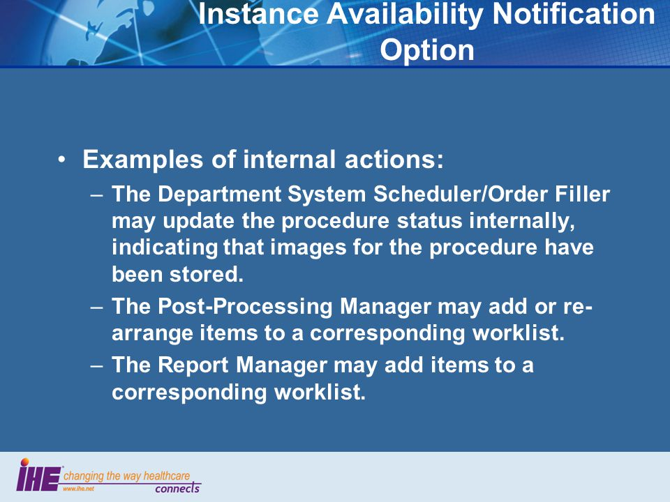 Instance Availability Notification Option