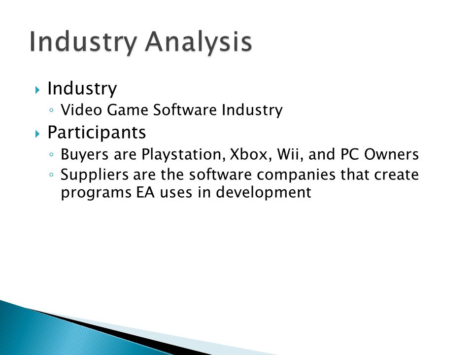 pest analysis of video game industry Pest analysis on activision blizzard : across all categories of the video game industry swot analysis and then pest analysis and after that.