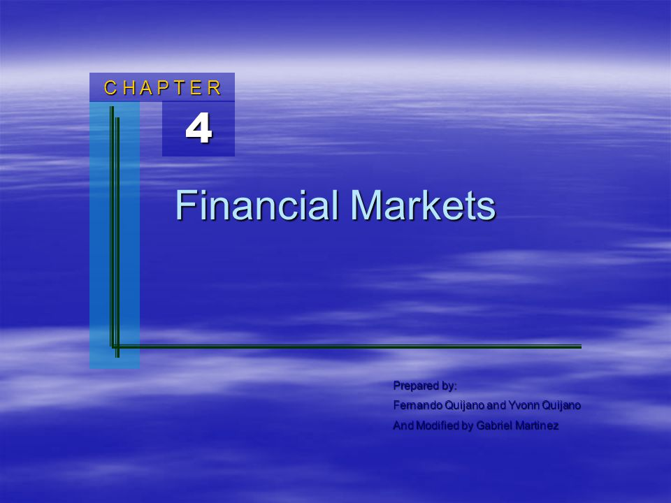 financial markets class ppt Thanks for sharing useful information with us about financial markets your info will definitely help the readers and please keep sharing some more info with us equity investment up.