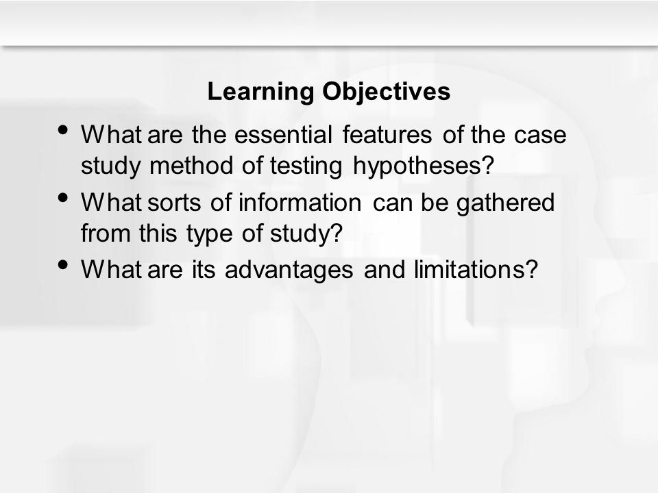 hypothesis testing and analysis case study Seminar 7: using case studies for hypothesis testing  themselves to cross- case dataset analysis (the same murder could not have occurred.