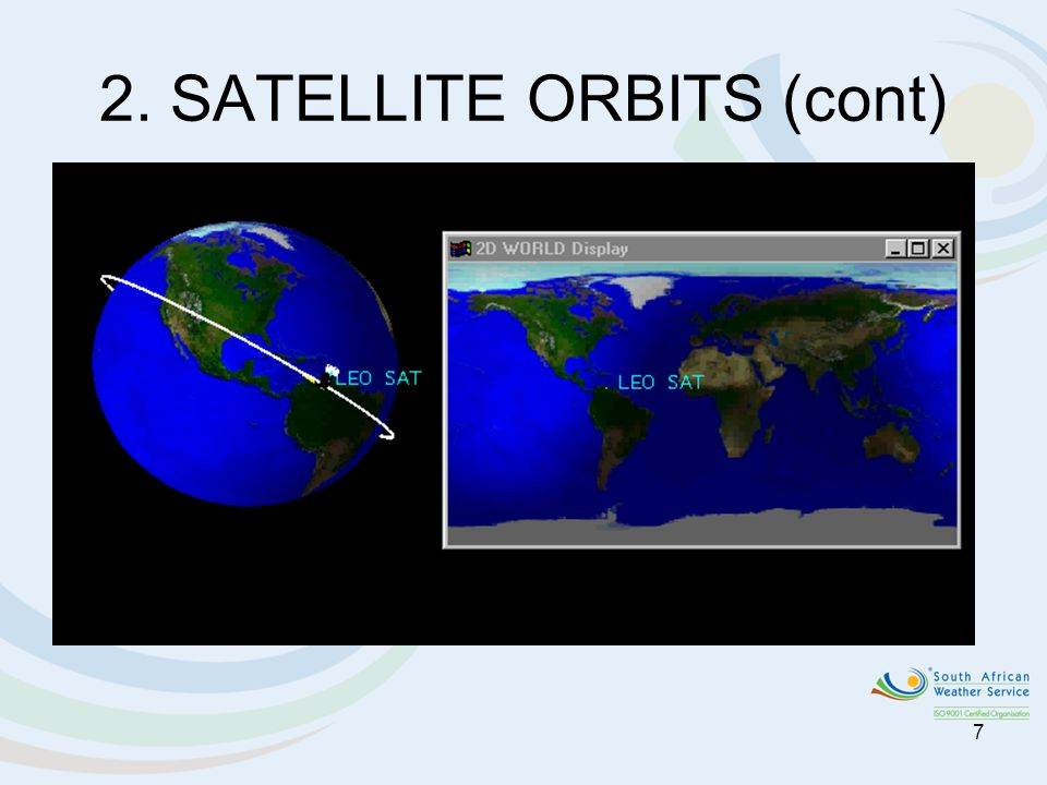 2. SATELLITE ORBITS (cont)