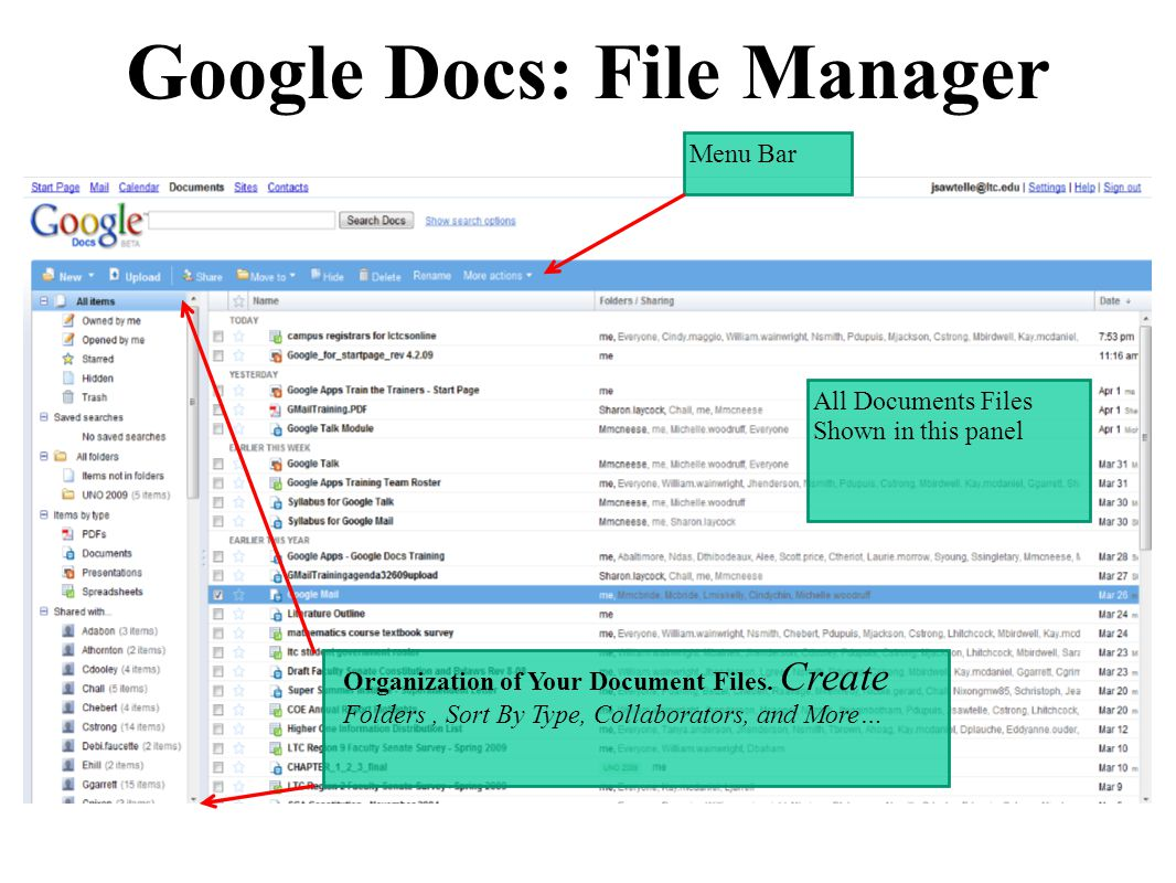 how to start a google document