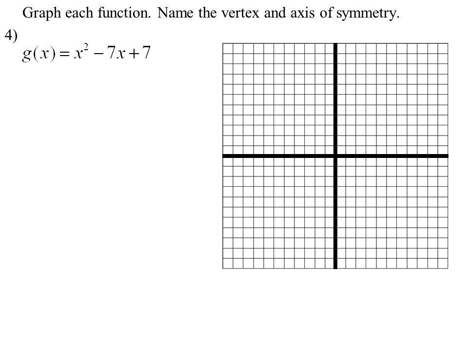 6 Graph Each Function.