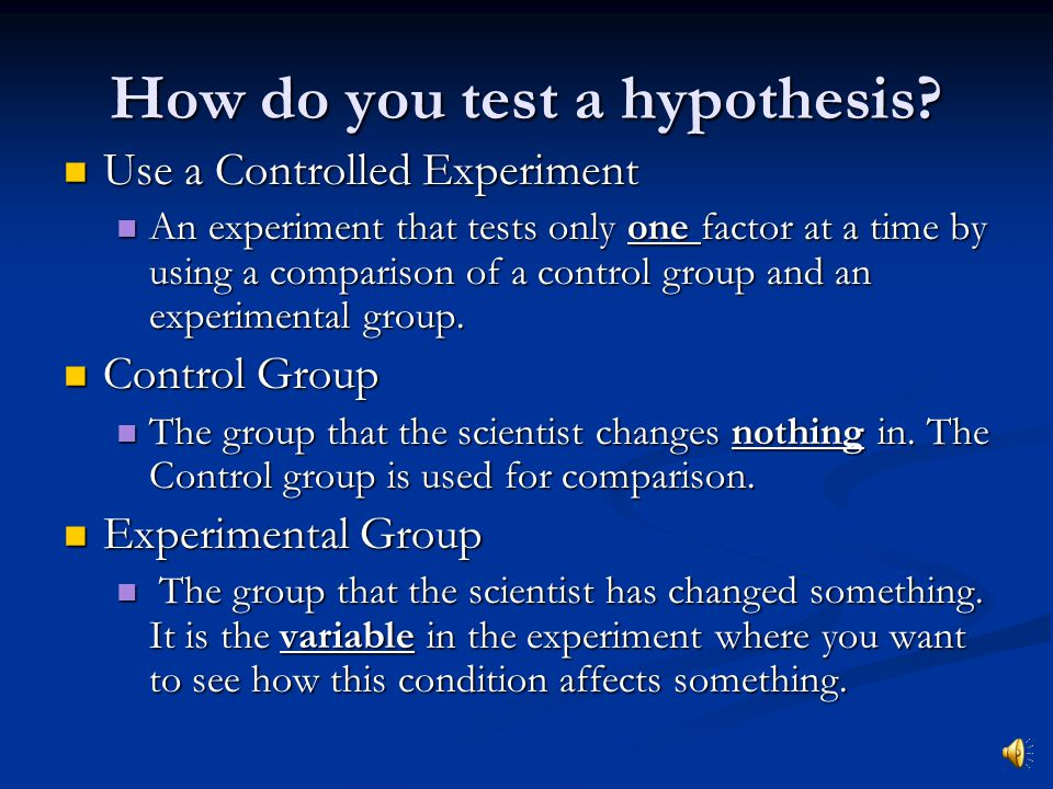 how to make a hypothesis test