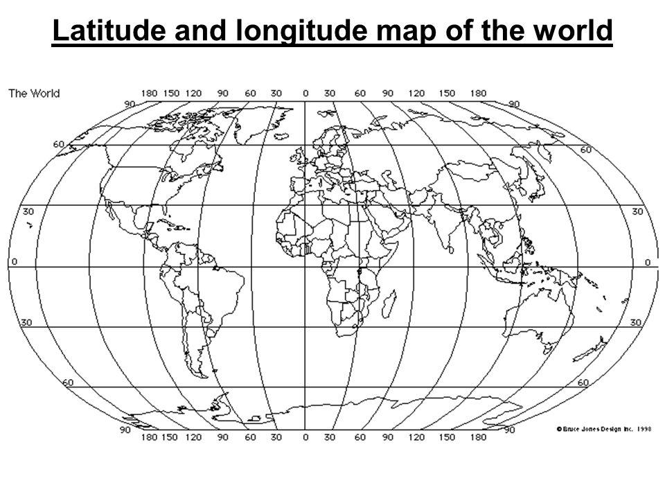 World Map Image Latitude Longitude - World map with latitude lines