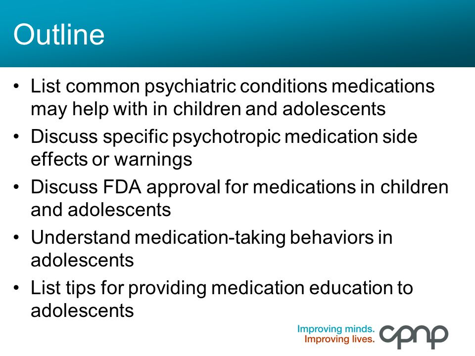 Child psychiatric disorders and medicating psychoactive drugs to children