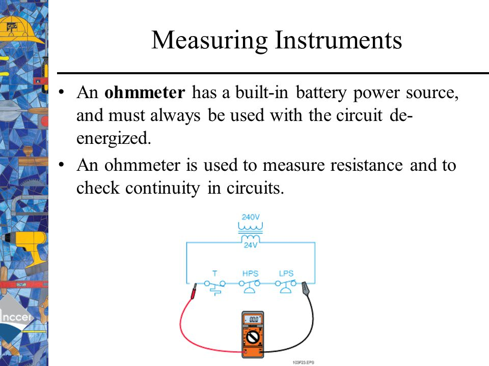 Measuring Resistance With Ohmmeter : Electrical generating plants ppt download