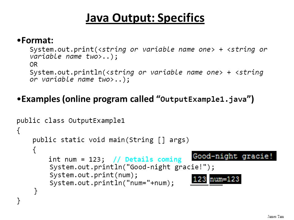 system out print java