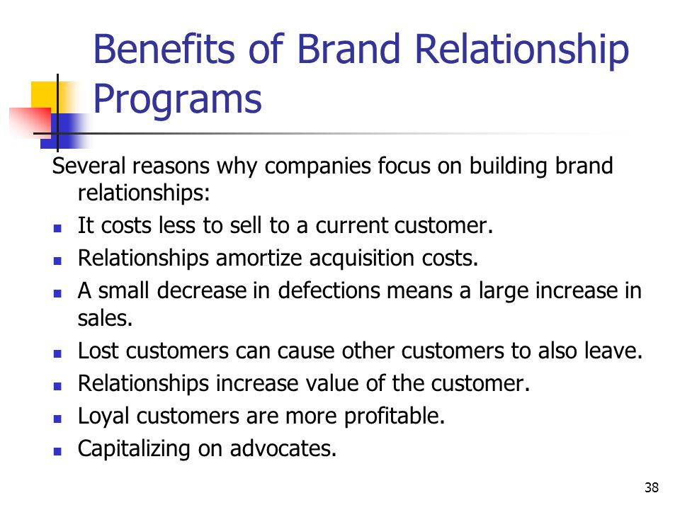 Benefits of Brand Relationship Programs