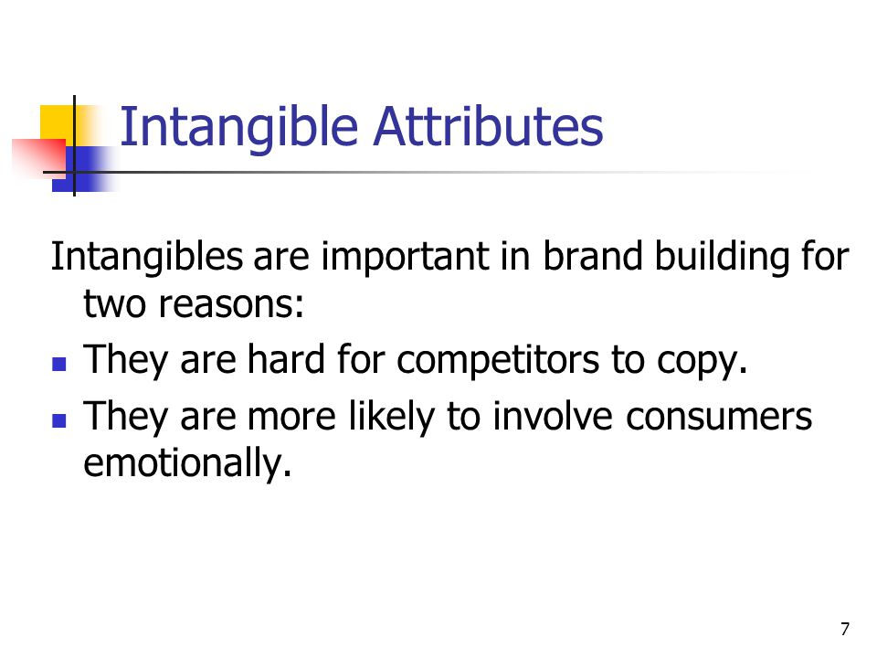 Intangible Attributes