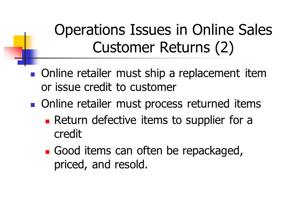 Operations Issues in Online Sales Customer Returns (2)