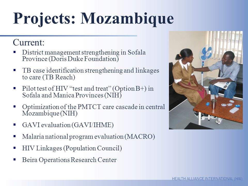 Projects: Mozambique Current: