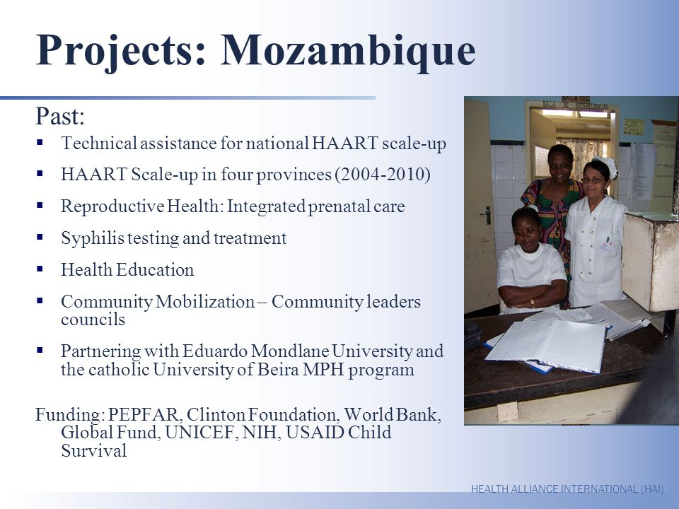 Projects: Mozambique Past: