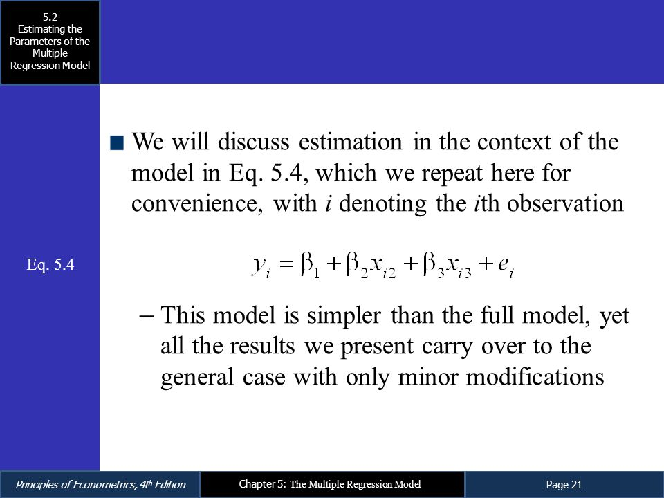 multiple regression model The sum of squares uniquely attributable to a variable is computed by comparing two regression models: the complete model and a reduced model.