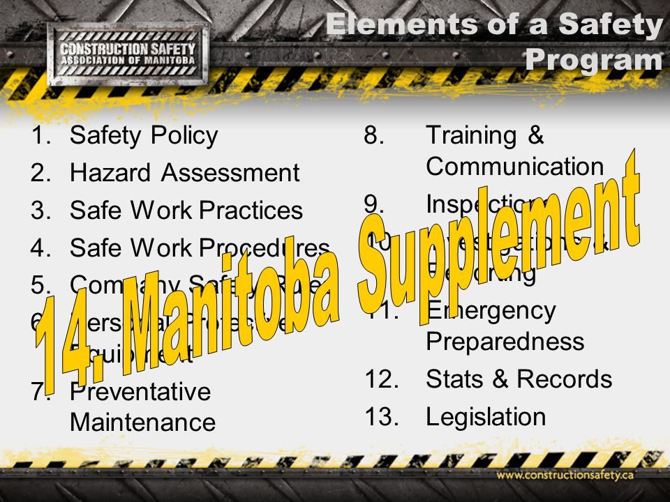 Implementation Of An Effective Safety Program - Ppt Download