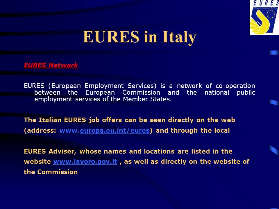 EURES in Italy EURES Network